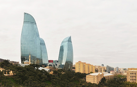 Flame Towers, Dagustu Park, Baku - Virtual tour