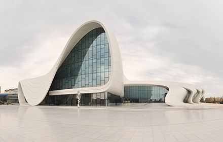 Heydar Aliyev Center, Zaha Hadid, Baku - Virtual tour