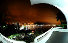 Sao Vicente at night, Santos - Virtual tour