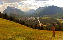 Banff from Stoney Squaw, Alberta - Visite virtuelle