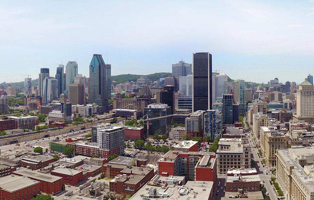 Montreal Vieux-Port, Downtown, Quebec, Canada - Panorama 360°
