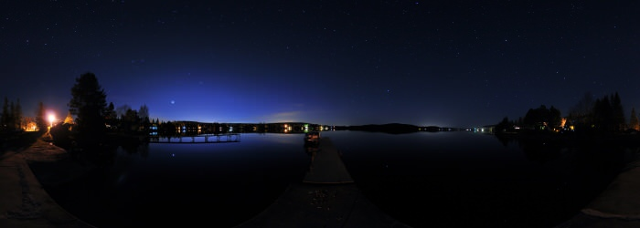 Thetford Mines, Lac a la truite, Quebec - Panorama 360°