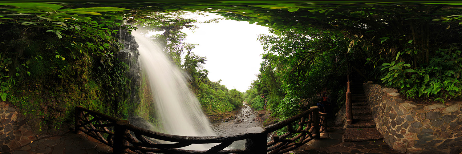 La Paz Waterfall, Catarata La Paz - Panorama 360°