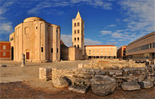 St Anastasia and St Donatus, Zadar, Dalmatian coast - Panorama 360°