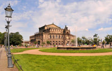 Semperoper Opera house, Dresden - Panorama 360°