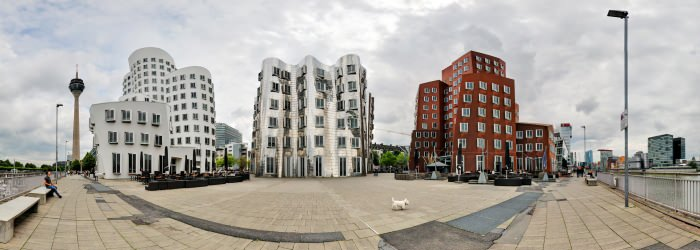 Gehry Buildings Zollhof, Dusseldorf - Virtual tour