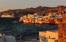 Windmills and Little Venice, Mykonos Island - Panorama 360°