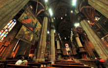 Inside the Cathedral, Duomo di Milano - Panorama 360°