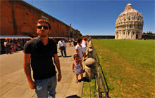 Self-portrait, Leaning Tower of Pisa - Panorama 360°