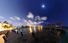 Blue hour at the pier, Playa del Carmen - Virtual tour