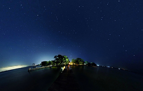 Estrellas en Bacalar camp, Laguna Bacalar - Virtual tour