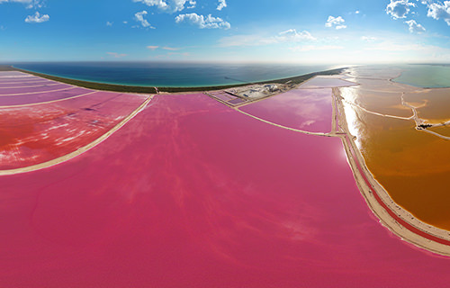 Las Coloradas, Rio Lagartos, Yucatan, Mexico - Virtual tour