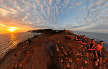 Punta Cometa sunset, Mazunte, Oaxaca - Virtual tour
