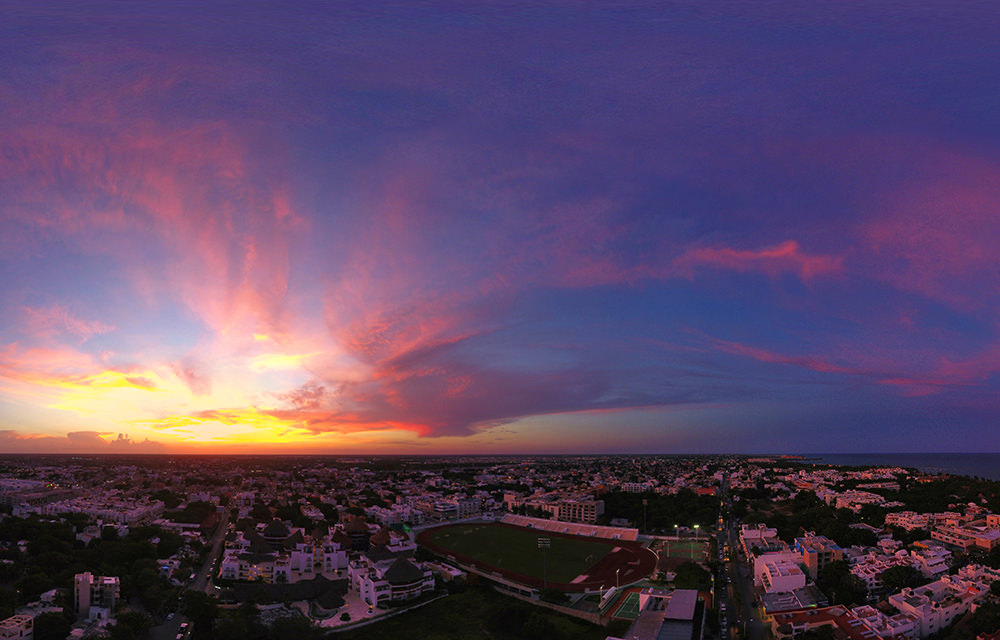 Sunset in Playa del Carmen, Riviera Maya, Mexico - Virtual tour