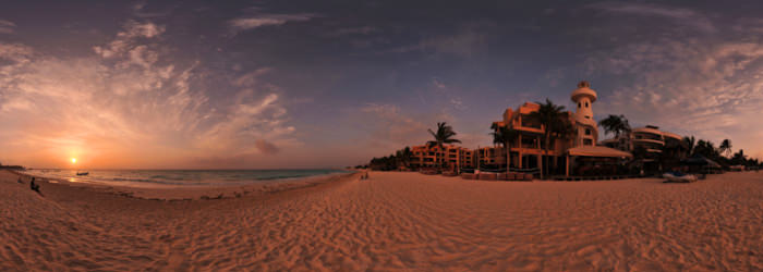 Amanecer - Sunrise, Playa del Carmen - Virtual tour