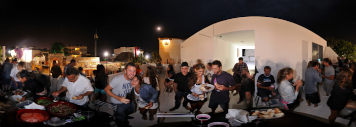 BBQ at Quinta Playa Hostel, Playa del Carmen - Virtual tour