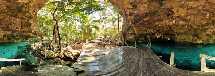 Cenote 2 ojos - First eye, Quintana Roo - Virtual tour