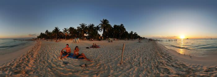 Isla Mujeres - Playa norte, Sunset, Quintana Roo - Virtual tour