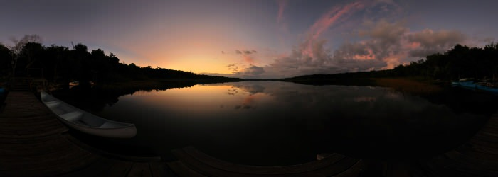 Punta Laguna sunset, Quintana Roo - Virtual tour