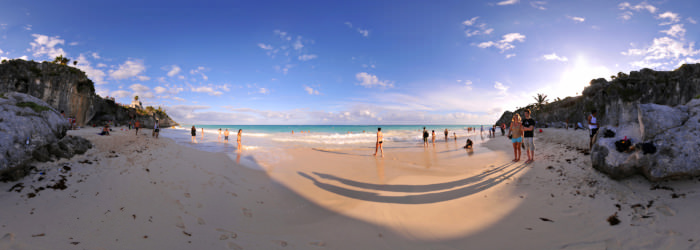 Tulum beach, Riviera Maya - Virtual tour