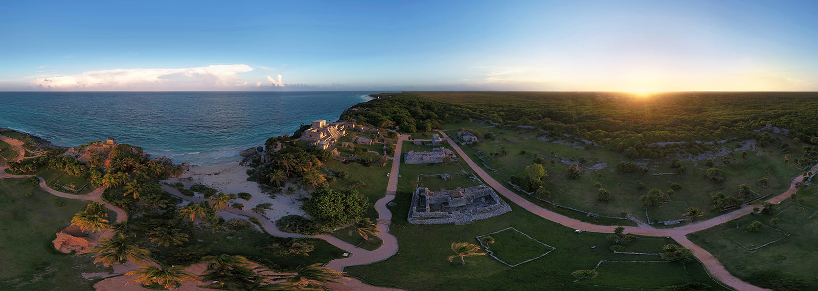 Tulum ruins at Sunset, Riviera Maya - Virtual tour