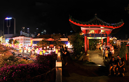 Garden Bridge, Chinatown - Panorama 360°