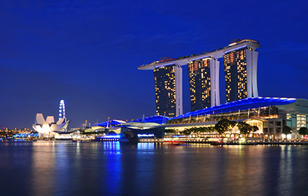 Marina Bay Sands, Singapore - Panorama 360°