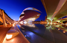 Palau de les Arts de noche, Valencia - Virtual tour
