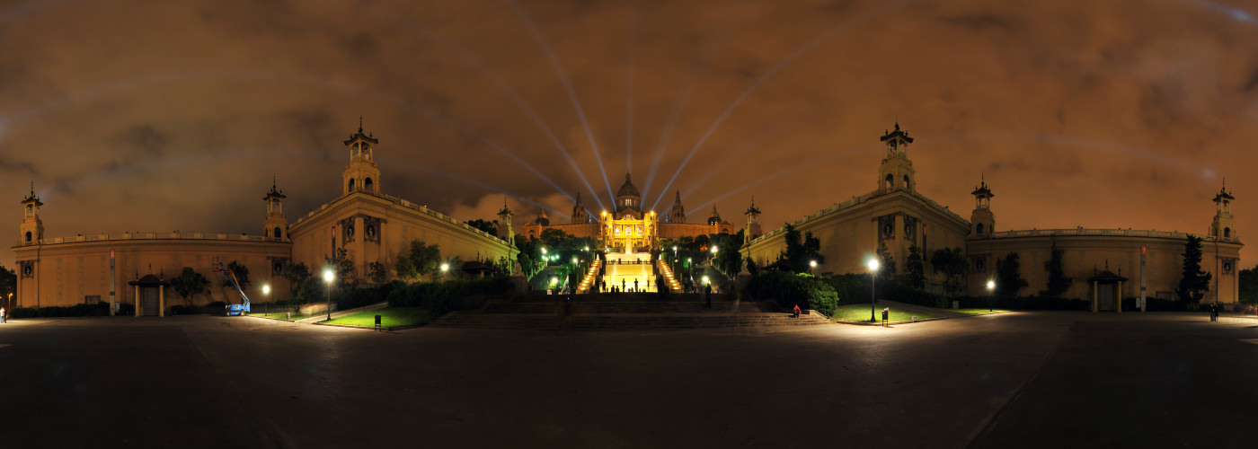 Palau Nacional Night, Montjuic, Barcelona - Visite virtuelle