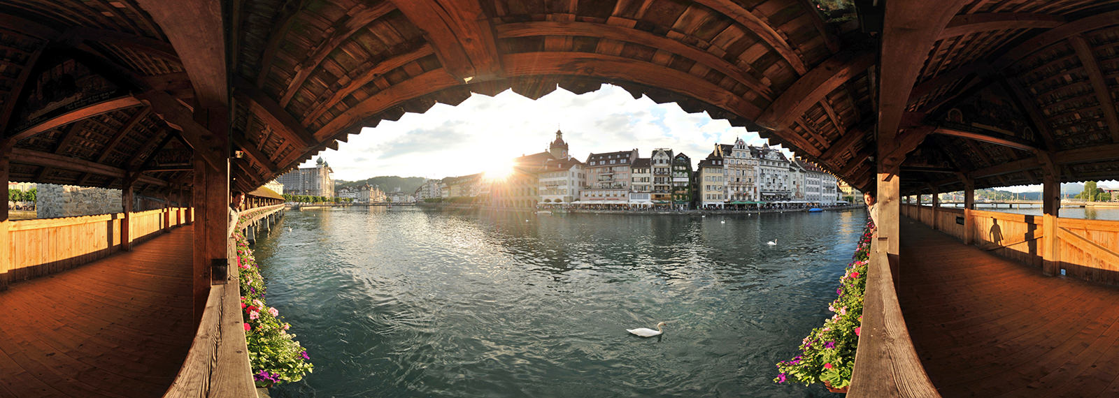 Kapellbrucke, Chapel Bridge, Luzern - Virtual tour