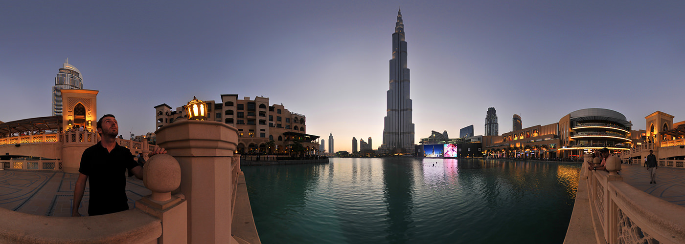 Dubai Burj Khalifa, Dubai Mall Fountain - Virtual tour